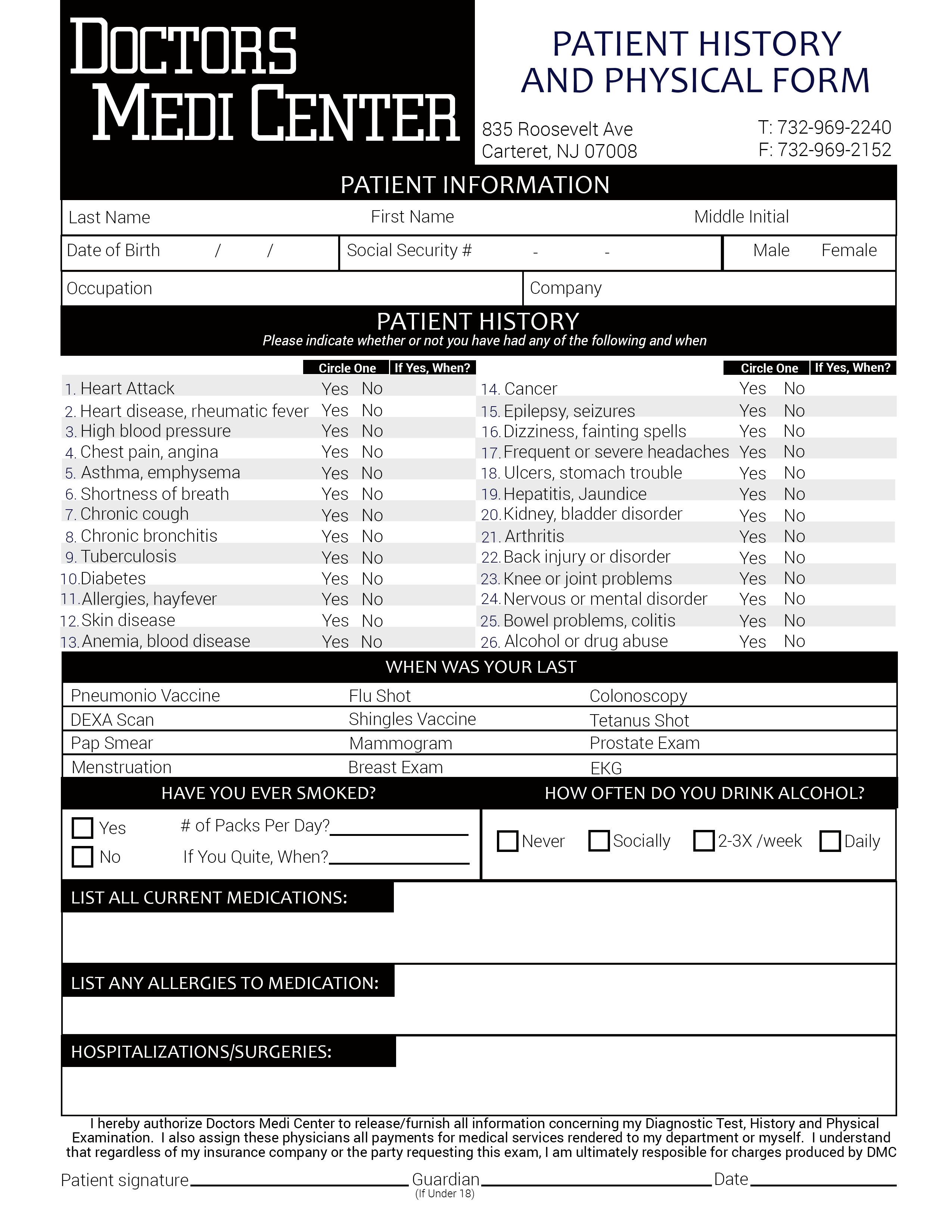 physical exam form yearly physical exam form is used by the doctors ...